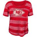 Kansas City Chiefs Juniors Bolder Burnout T-Shirt - Red