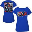 Dale Earnhardt Jr. Chase Authentics Womens 2014 Superman T-Shirt - Royal Blue
