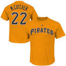 Andrew McCutchen Pittsburgh Pirates Majestic Official Name and Number T-Shirt - Gold