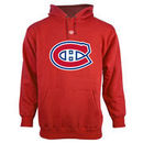 Montreal Canadiens Old Time Hockey Big Logo with Crest Pullover Hoodie - Red