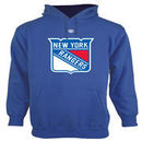 New York Rangers Old Time Hockey Big Logo with Crest Pullover Hoodie - Royal Blue