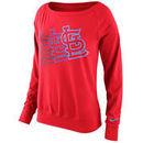St. Louis Cardinals Nike Women's Epic Crew Performance Tri-Blend Sweatshirt 1.5 - Red