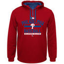 Philadelphia Phillies Majestic Authentic Team Property On-Field Colorblock Therma Base Hoodie - Red