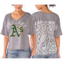 Oakland Athletics Touch by Alyssa Milano Women's Maverick T-Shirt - Gray