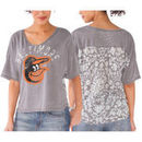 Baltimore Orioles Touch by Alyssa Milano Women's Maverick T-Shirt - Gray