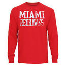 Miami University RedHawks Straight Out Long Sleeve T-Shirt - Red
