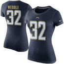 Eric Weddle San Diego Chargers Nike Women's Player Name & Number T-Shirt - Navy Blue