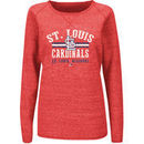St. Louis Cardinals Majestic Women's Neat Cleats Crew Sweatshirt - Red