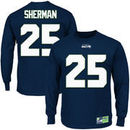 Richard Sherman Seattle Seahawks Eligible Receiver II Name and Number Long Sleeve T-Shirt - Navy