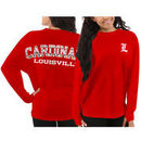 Louisville Cardinals Pressbox Women's Aztec Sweeper Long Sleeve Oversized Top - Red