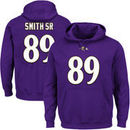 Steve Smith Sr Baltimore Ravens Majestic Eligible Receiver II Name & Number Hoodie - Purple
