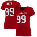 Houston Texans Women's Fair Catch V Name & Number T-Shirt - Red