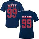 JJ Watt Houston Texans Girls Youth Fade Route Name & Number T-Shirt - Navy Blue