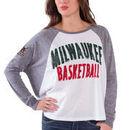 Milwaukee Bucks Women's Triple A Long Sleeve T-Shirt - White/Gray