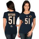 Dick Butkus Chicago Bears Majestic Women's Hall of Fame Fair Catch V T-Shirt - Navy