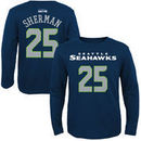 Richard Sherman Seattle Seahawks Youth Primary Gear Name & Number Long Sleeve T-Shirt - College Navy