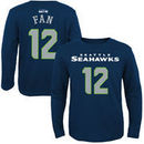 12th Fan Seattle Seahawks Youth Primary Gear Name & Number Long Sleeve T-Shirt - College Navy