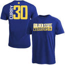 Stephen Curry Golden State Warriors Majestic Vertical Name & Number T-Shirt - Royal