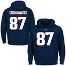 Rob Gronkowski New England Patriots Majestic Eligible Receiver II Name & Number Hoodie - Navy