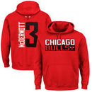 Doug McDermott Chicago Bulls Majestic Vertical Name & Number Pullover Hoodie - Red