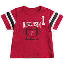 Wisconsin Badgers Colosseum Infant Pigskin Football T-Shirt - Red