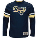 Classic St. Louis Rams Majestic Power Hit Long Sleeve T-Shirt - Navy