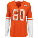 Denver Broncos Majestic Women's Kickoff Blitz Long Sleeve T-Shirt - Orange