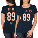 Mike Ditka Chicago Bears Majestic Women's Hall of Fame Fair Catch V T-Shirt - Navy