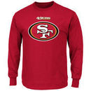 San Francisco 49ers Majestic Critical Victory Long Sleeve T-Shirt - Scarlet