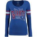 New York Giants '47 Brand Women's Home Run Scoop Long Sleeve T-Shirt - Royal