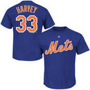 Matt Harvey New York Mets Majestic Official Name and Number T-Shirt - Royal