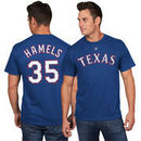 Cole Hamels Texas Rangers Majestic Official Name and Number T-Shirt - Royal