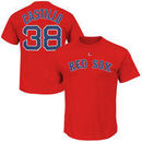 Rusney Castillo Boston Red Sox Majestic Official Name and Number T-Shirt - Red