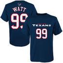JJ Watt Houston Texans Youth Mainliner Name & Number T-Shirt - Navy Blue