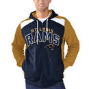 Classic St. Louis Rams G-III Sports by Carl Banks Kickoff Full Zip Hoodie - Navy