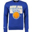 Golden State Warriors Mitchell & Ness Block and Blur Crew Fleece Sweatshirt - Royal