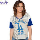 Los Angeles Dodgers Touch by Alyssa Milano Women's Power Play T-Shirt - Cream