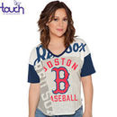 Boston Red Sox Touch by Alyssa Milano Women's Power Play T-Shirt - Cream