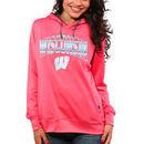 Wisconsin Badgers Women's Sport Fleece Hoodie - Coral