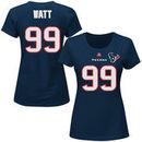 JJ Watt Houston Texans Majestic Women's Plus Size Fair Catch Name & Number T-Shirt - Navy