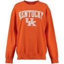 Kentucky Wildcats Pressbox Women's Arch Three Crew Fleece Sweatshirt - Orange