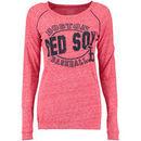 Boston Red Sox 5th & Ocean by New Era Women's Streaky Jersey Raglan Long Sleeve T-Shirt - Red