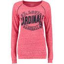St. Louis Cardinals 5th & Ocean by New Era Women's Streaky Jersey Raglan Long Sleeve T-Shirt - Red