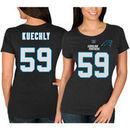Luke Kuechly Carolina Panthers Majestic Women's Fair Catch V Name & Number T-Shirt - Black