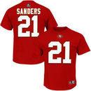 Deion Sanders San Francisco 49ers Majestic Hall of Fame Eligible Receiver II Name & Number T-Shirt - Scarlet