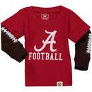 Alabama Crimson Tide Wes & Willy Infant Football Fooler Long Sleeve T-Shirt - Crimson
