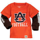 Auburn Tigers Wes & Willy Infant Football Fooler Long Sleeve T-Shirt - Orange