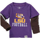 LSU Tigers Wes & Willy Infant Football Fooler Long Sleeve T-Shirt - Purple