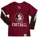 Florida State Seminoles Wes & Willy Infant Football Fooler Long Sleeve T-Shirt - Garnet