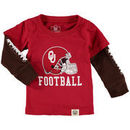 Oklahoma Sooners Wes & Willy Infant Football Fooler Long Sleeve T-Shirt - Crimson